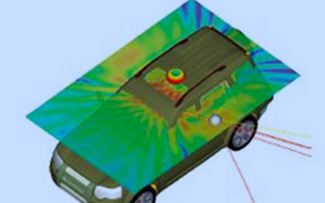 Installed-Antenna-Performance-ANSYS electromagnetics-contact-3D Engineering Automation LLP
