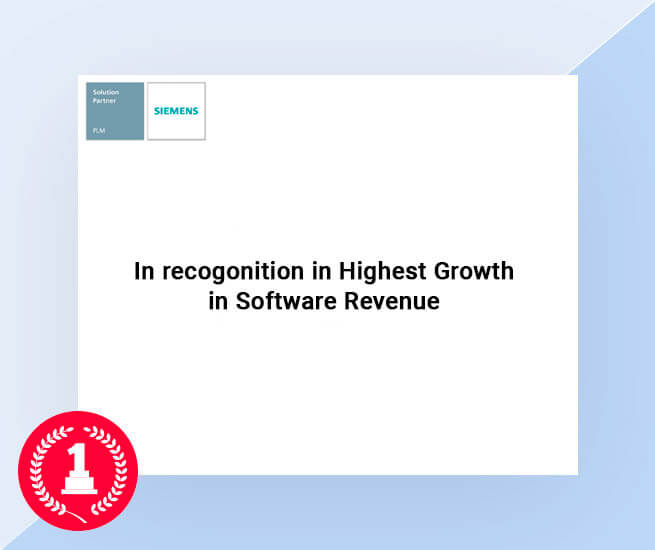 in-recognition-highest growth in software revenue awarded by siemens