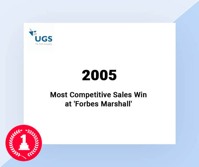 most-competitive-sales win at Forbes Marshall awarded by Siemens Channel partner to 3D Engineering